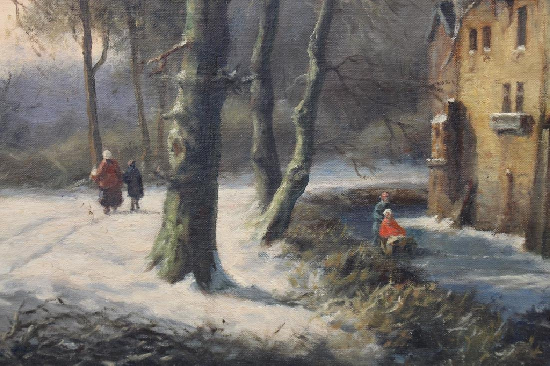 Signed, Early 20th C. Dutch Skating Scene - 3