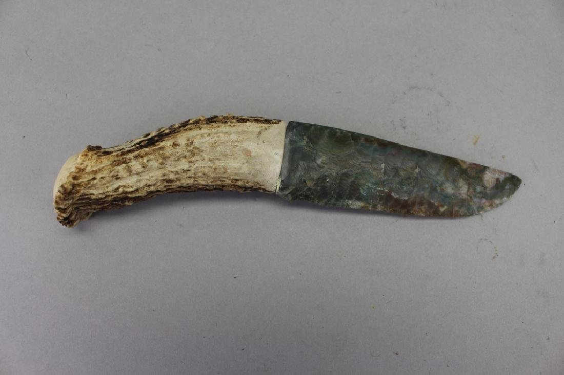 Antique Carved Stone Knife