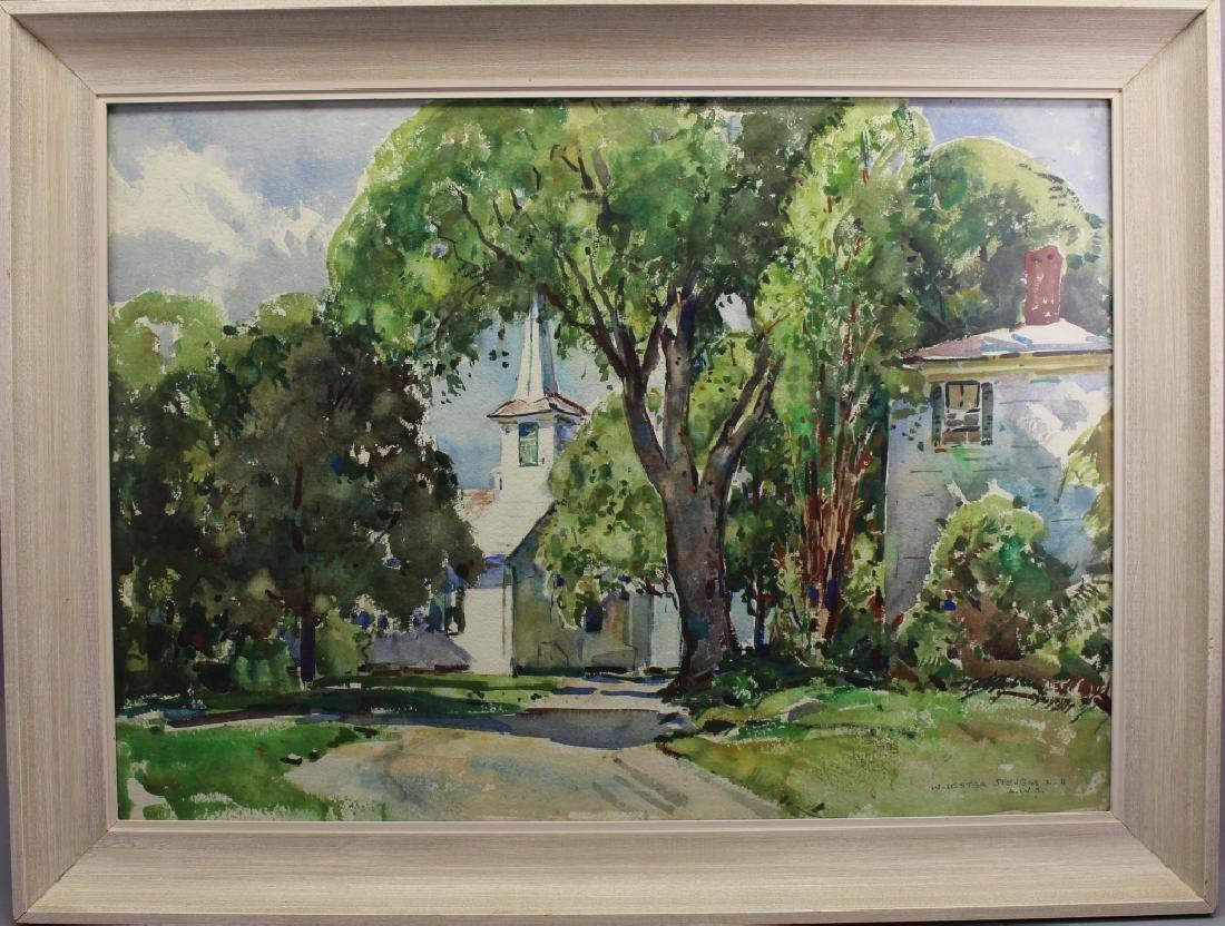 William Lester Stevens (1888 - 1969) Town Church