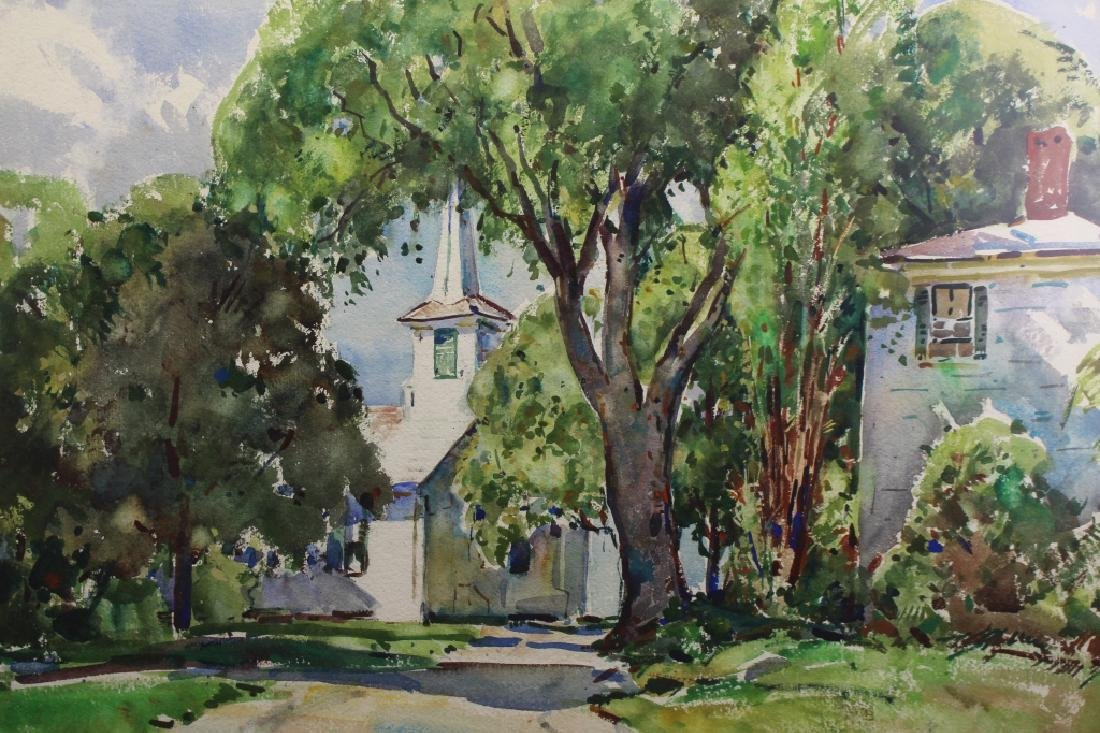 William Lester Stevens (1888 - 1969) Town Church - 2