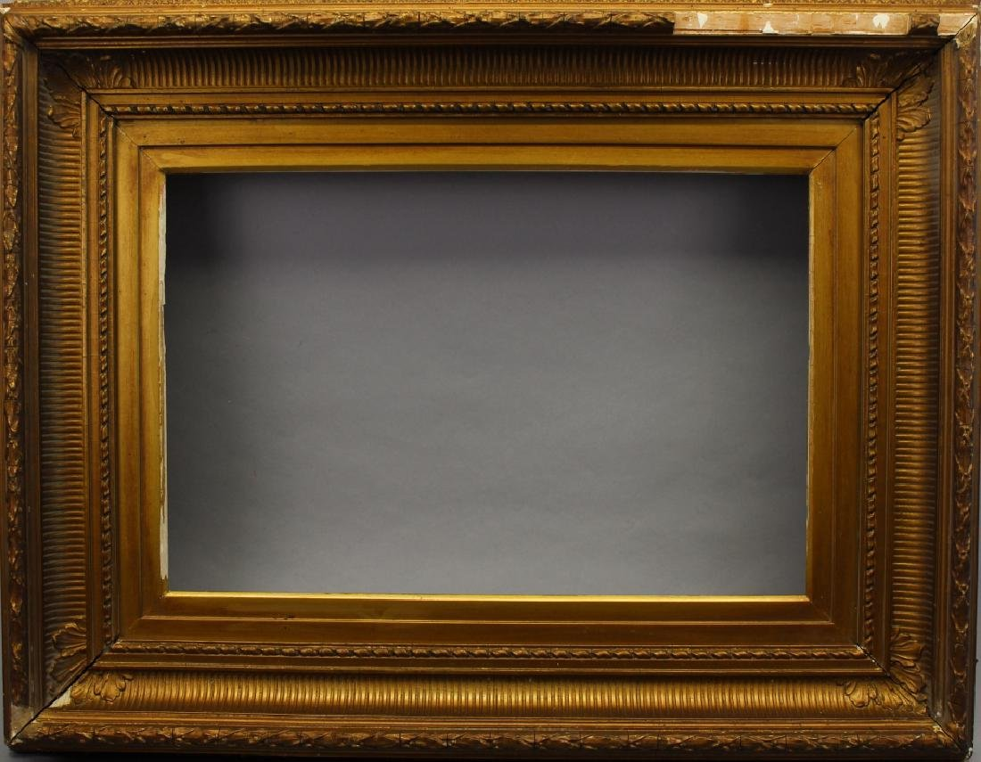 Antique Carved Fluted Cove Frame (as is)