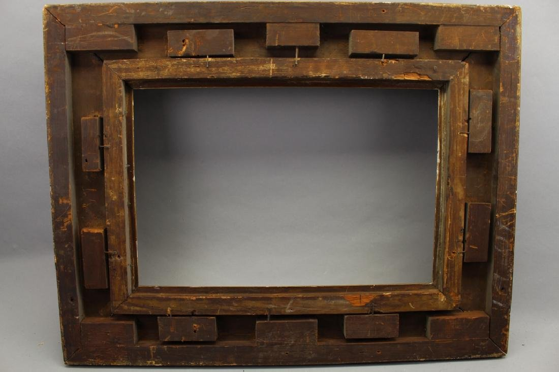 Antique Carved Fluted Cove Frame (as is) - 3