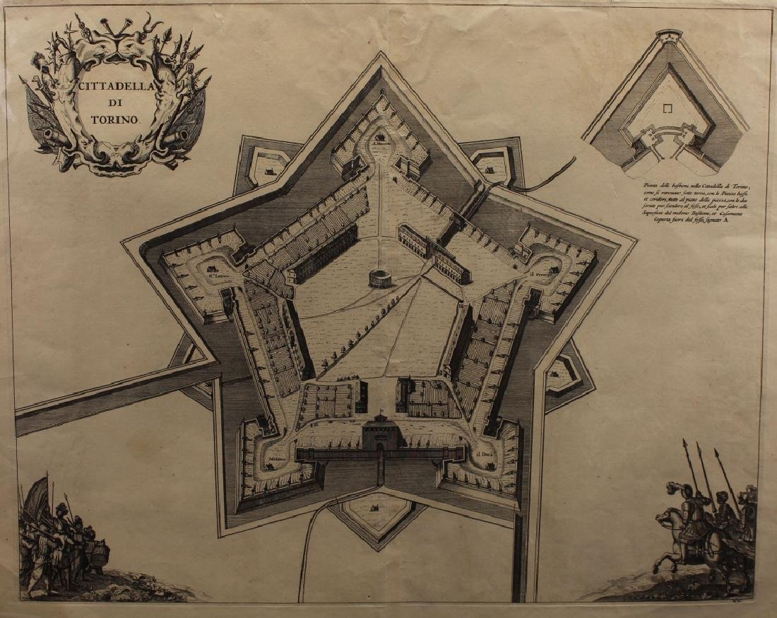 17th C. Map of Turin
