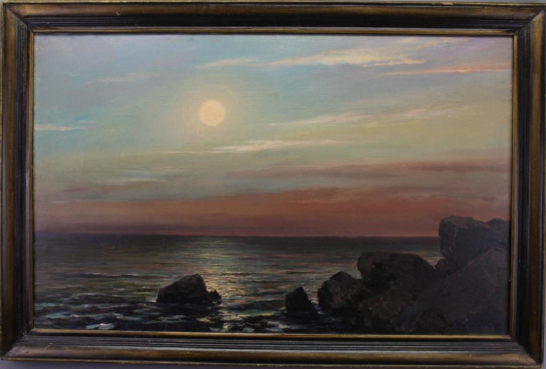 20th C. Russian Coastal Scene, Signed