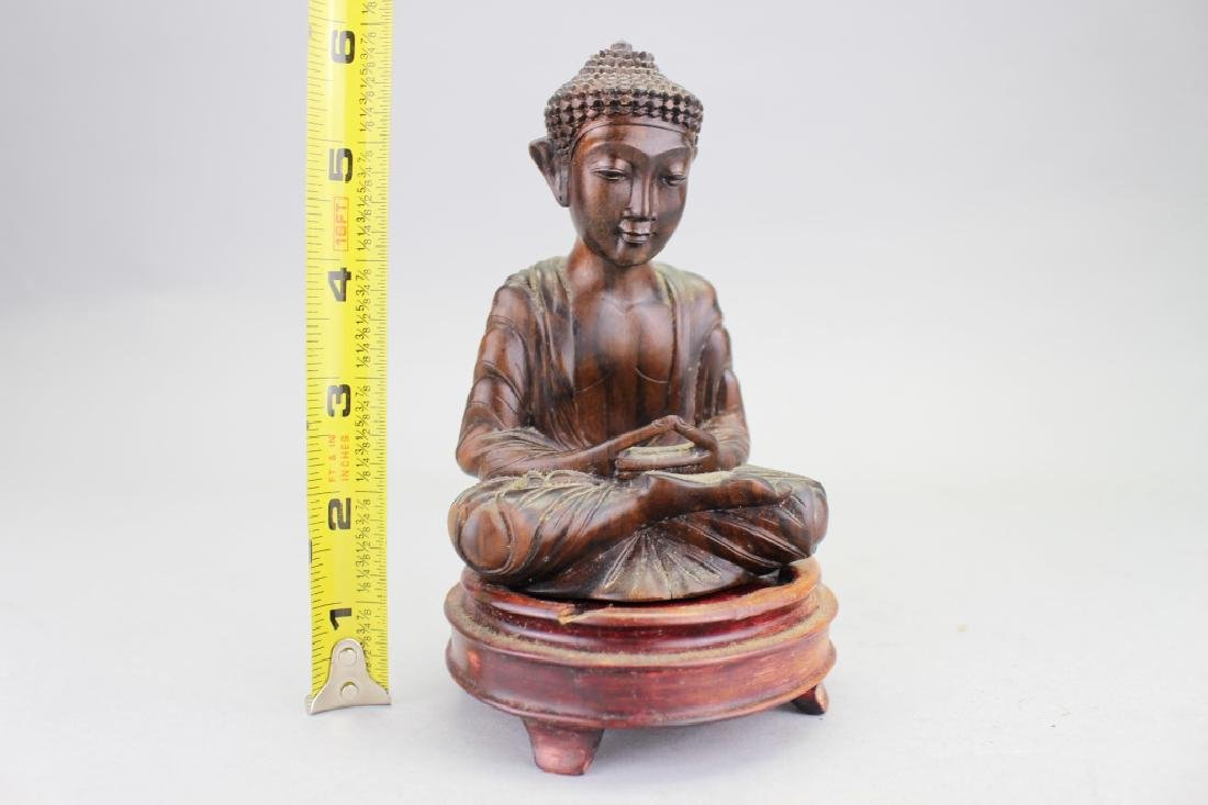 Carved Balinese Seated Buddha, Signed - 4