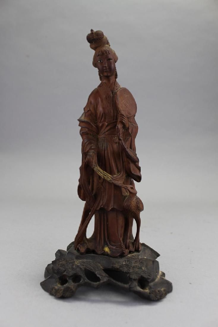 Carved Chinese Figure on Base