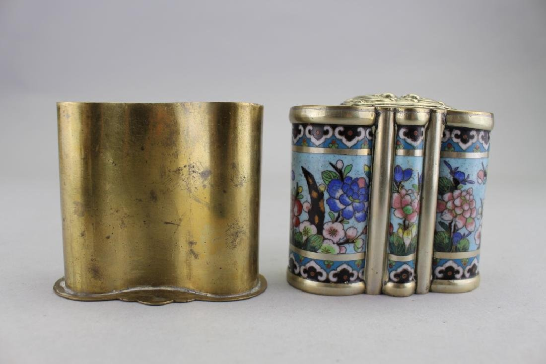 Chinese Cloisonne Container - 2