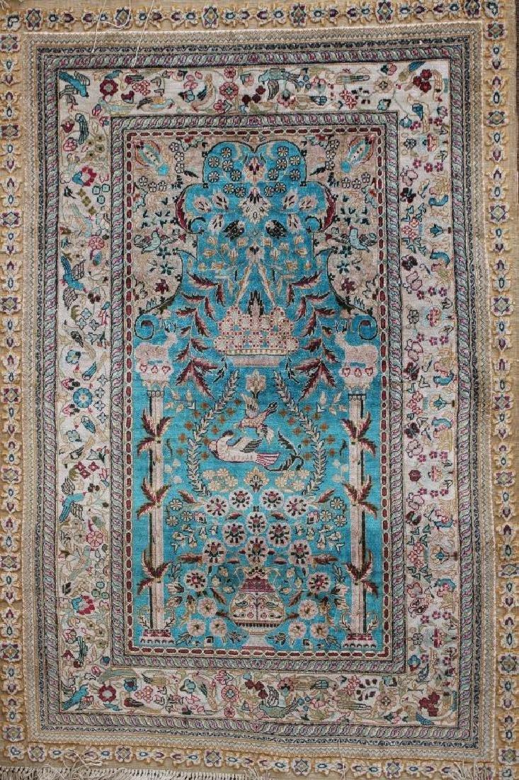 20th C. Persian Silk Rug