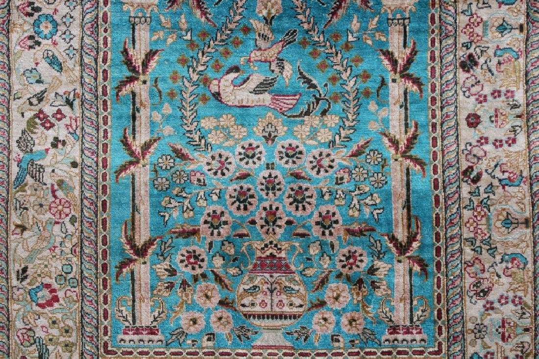 20th C. Persian Silk Rug - 3