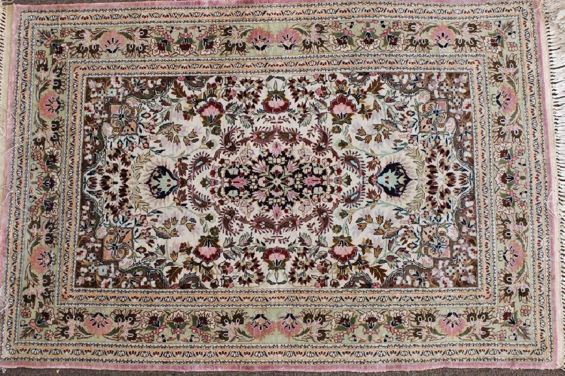 20th C. Persian Silk Rug