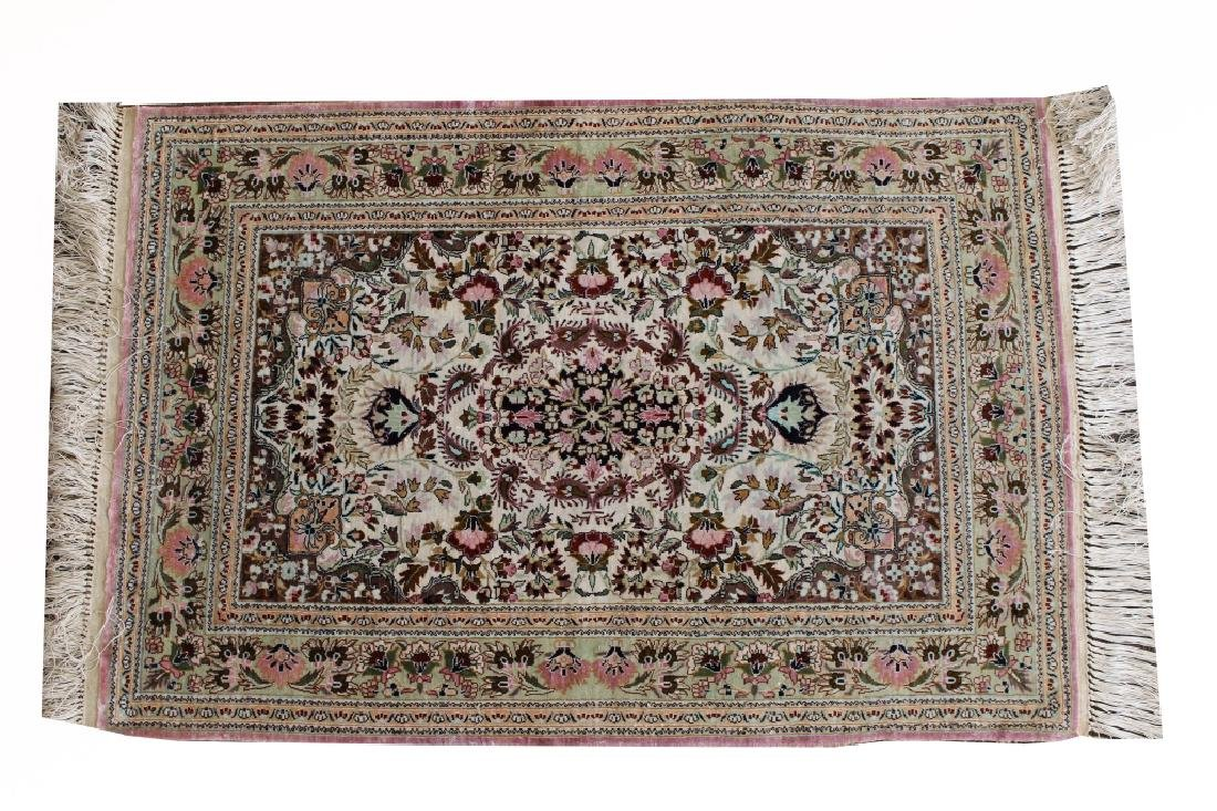 20th C. Persian Silk Rug - 2