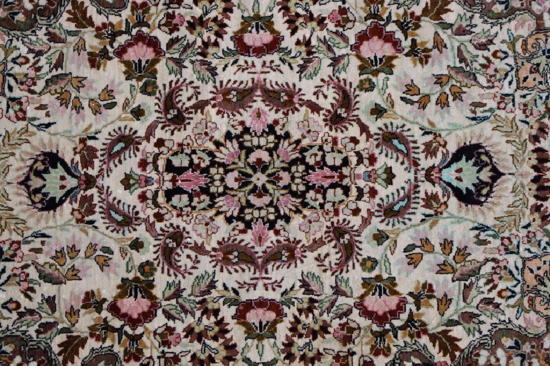 20th C. Persian Silk Rug - 3