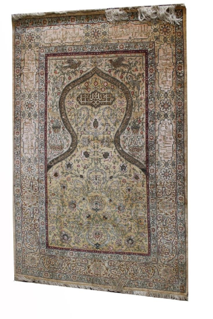 Fine Early 20th C. Signed Persian Rug - 5
