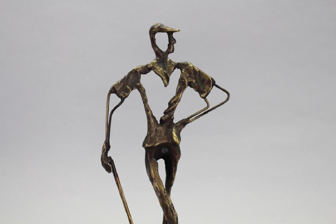 Clark, Signed Bronze Golfer Sculpture on Base - 2