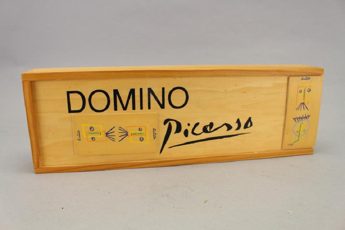 Set of Picasso Inspired Wooden Dominoes