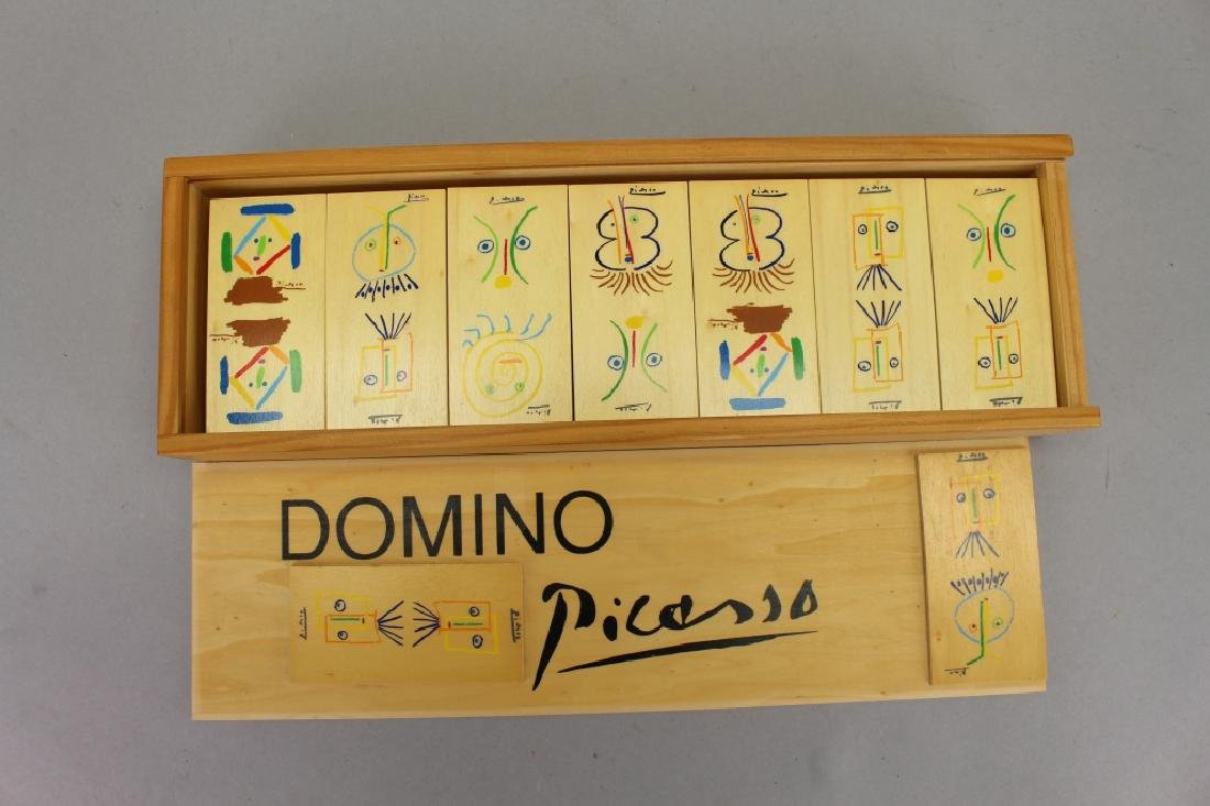 Set of Picasso Inspired Wooden Dominoes - 2