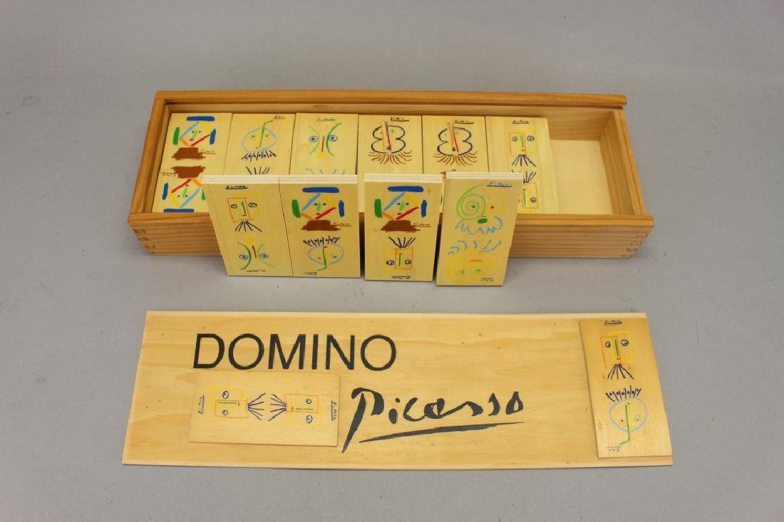 Set of Picasso Inspired Wooden Dominoes - 3