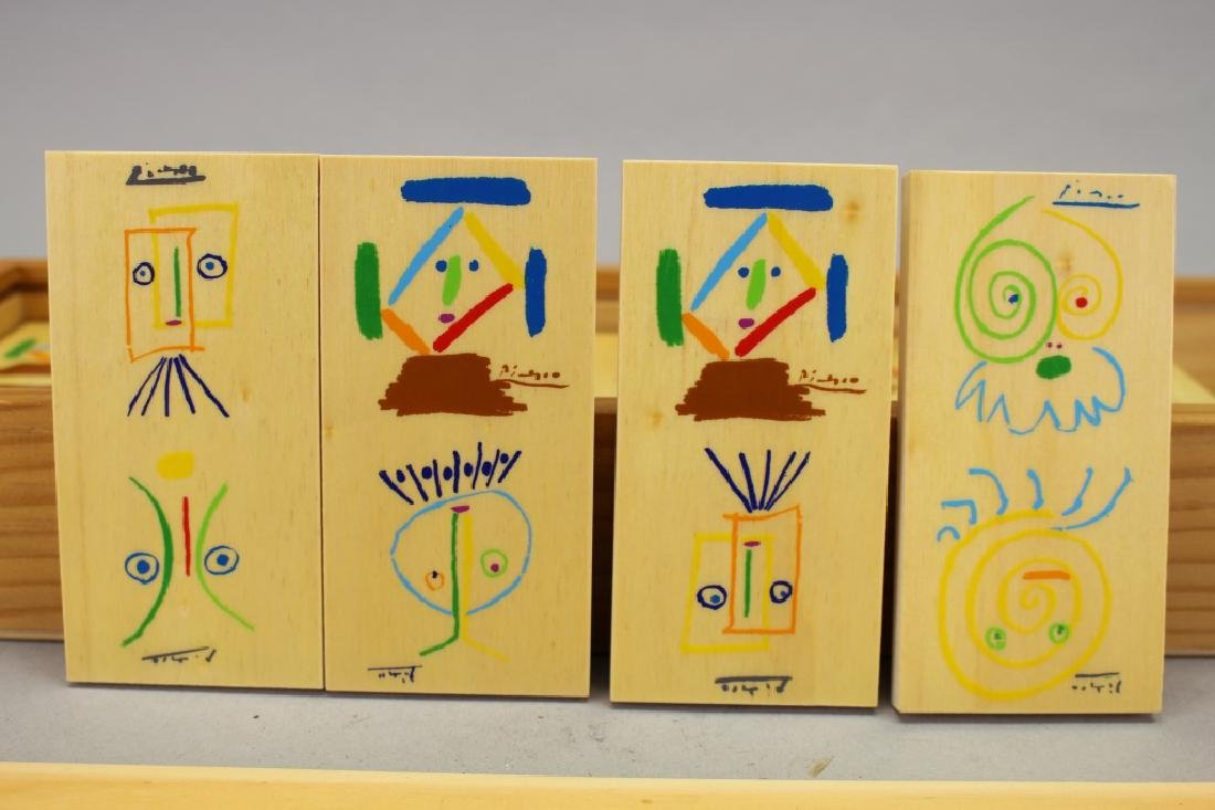 Set of Picasso Inspired Wooden Dominoes - 4