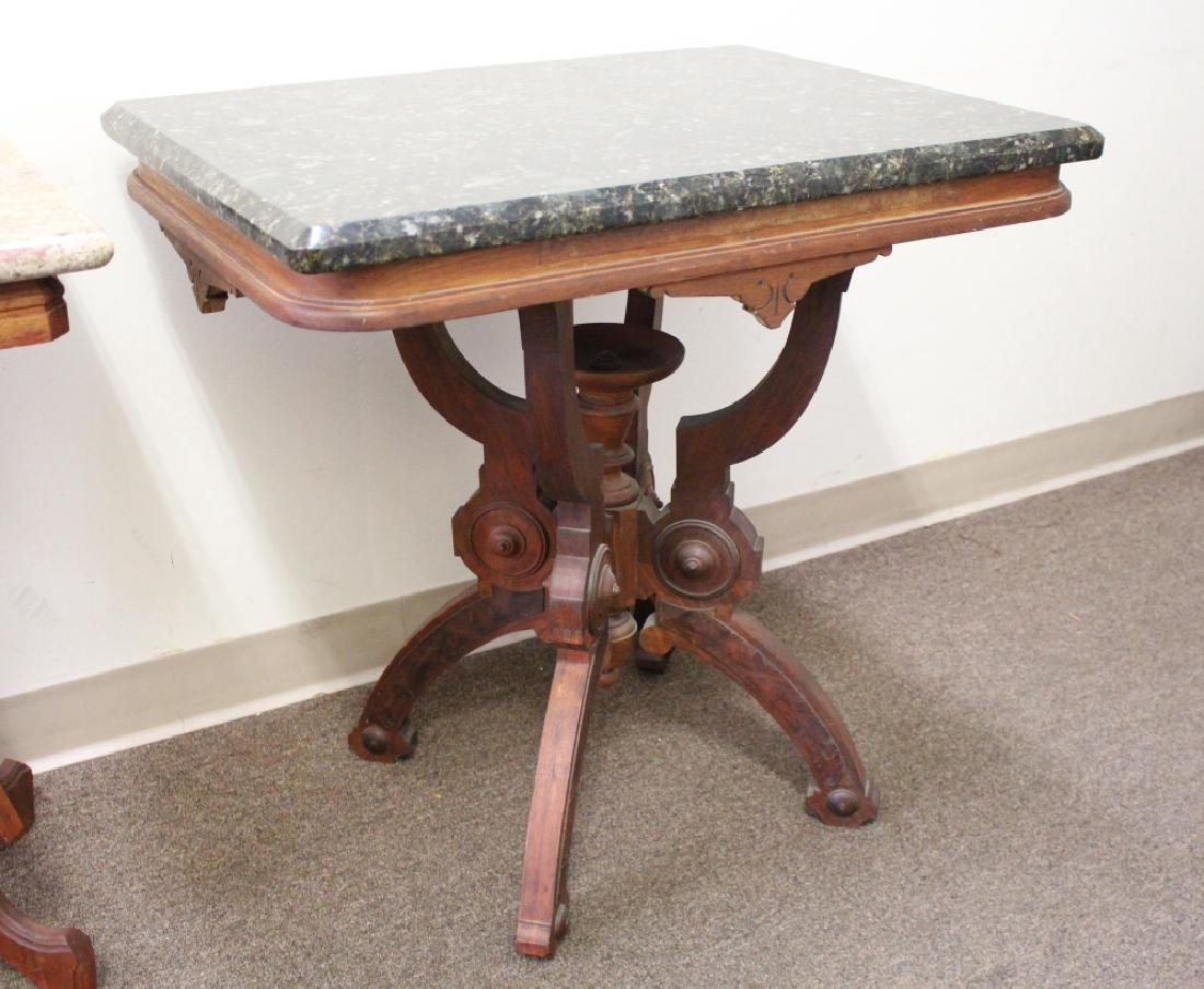 (2) Marble Top Occasional Tables - 3