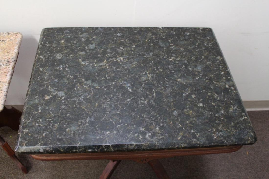 (2) Marble Top Occasional Tables - 5