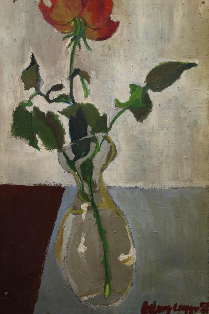 Signed, '58 Oil/Canvas Painting of a Still Life