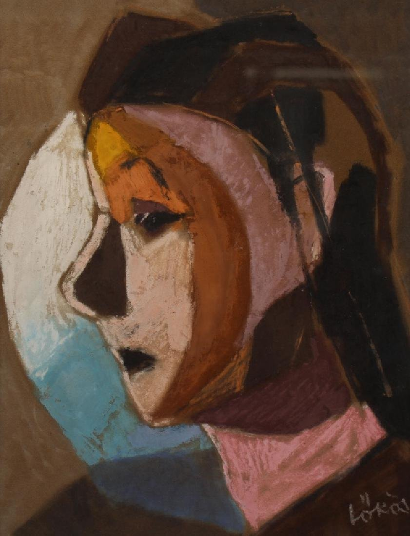 Signed, 20th C, Mixed Media Portrait of a Woman - 2