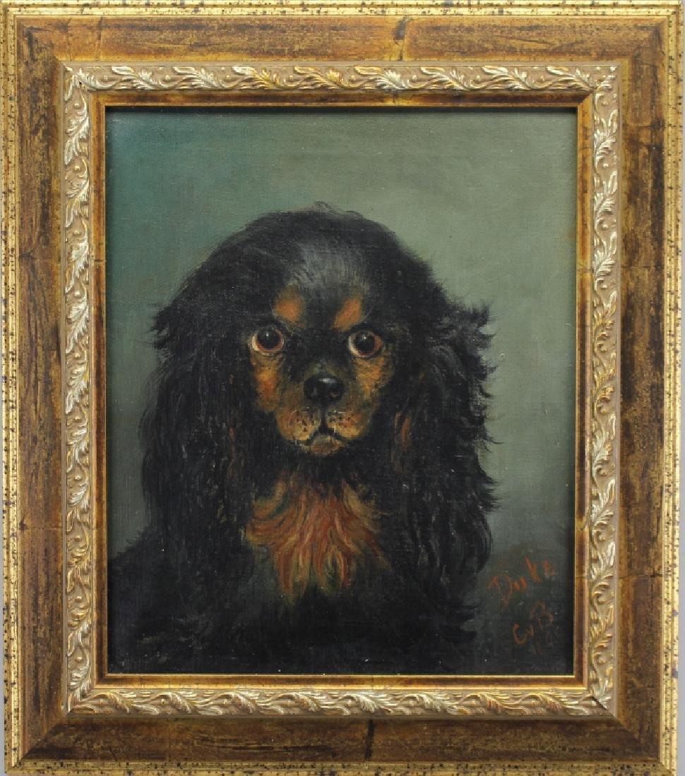 Signed, 1895 Portrait of a Dog