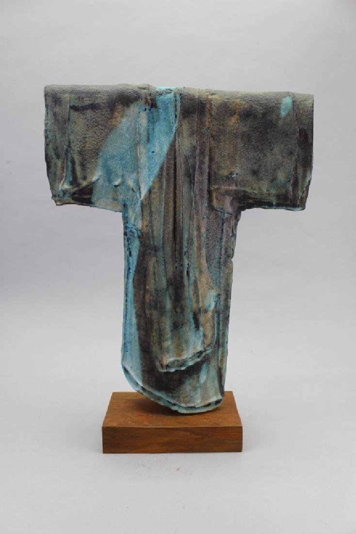 20th C. Robe Sculpture on Wooden Base