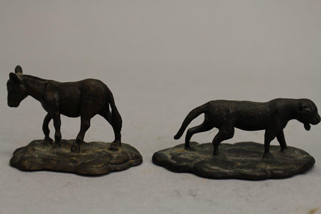 (4) Signed Tiffany Studios? Bronze Animals - 3