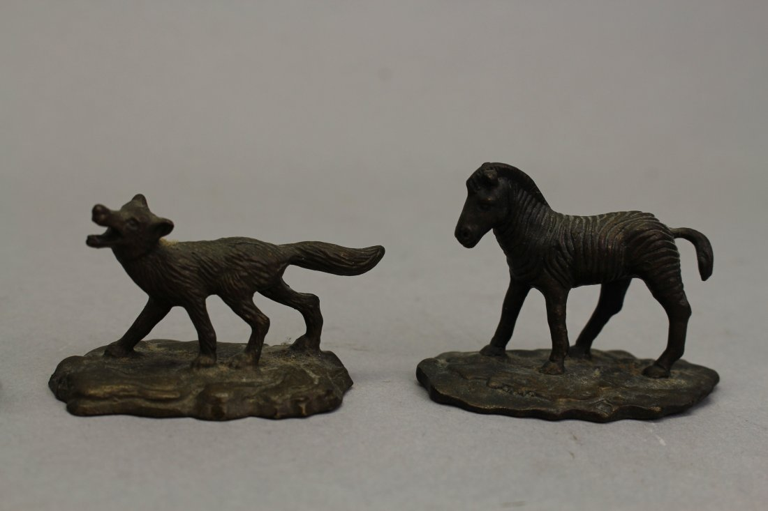 (4) Signed Tiffany Studios? Bronze Animals - 4