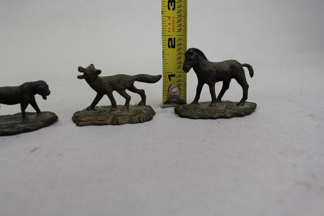 (4) Signed Tiffany Studios? Bronze Animals - 5