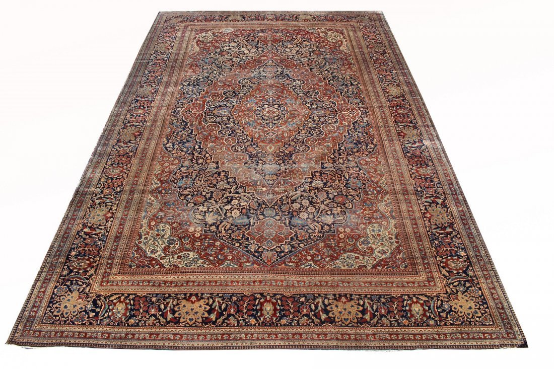 Exceptional Palace Sized Antique Kashan Rug