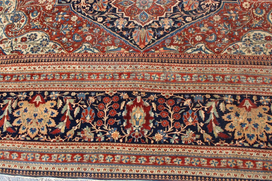Exceptional Palace Sized Antique Kashan Rug - 3