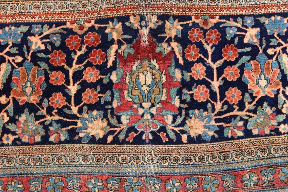 Exceptional Palace Sized Antique Kashan Rug - 4