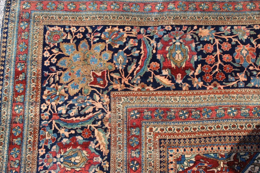 Exceptional Palace Sized Antique Kashan Rug - 5