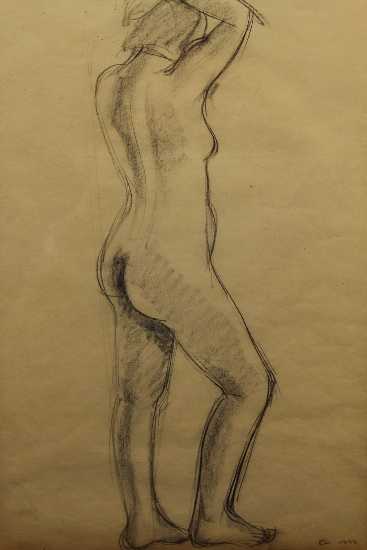 French School, Signed 20th C. Female Nude