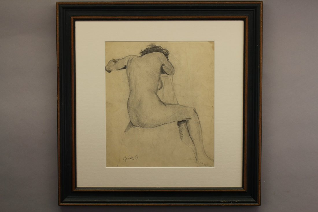 Russian School, Signed 20th C. Female Nude Study