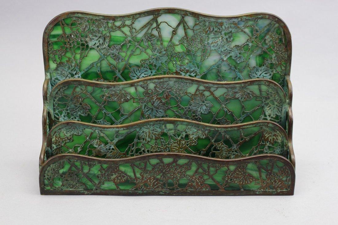Tiffany Studios Art Nouveau Letter Holder (as is)