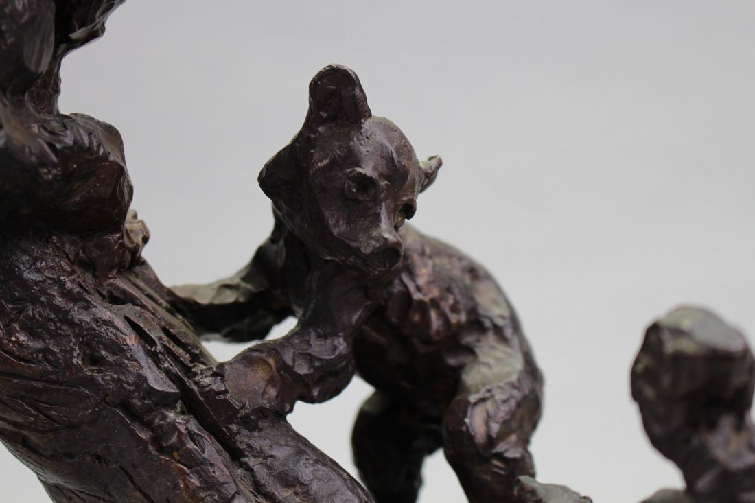 Gary Schildt  (born 1938) Bear Cubs w/ Squirrel - 2
