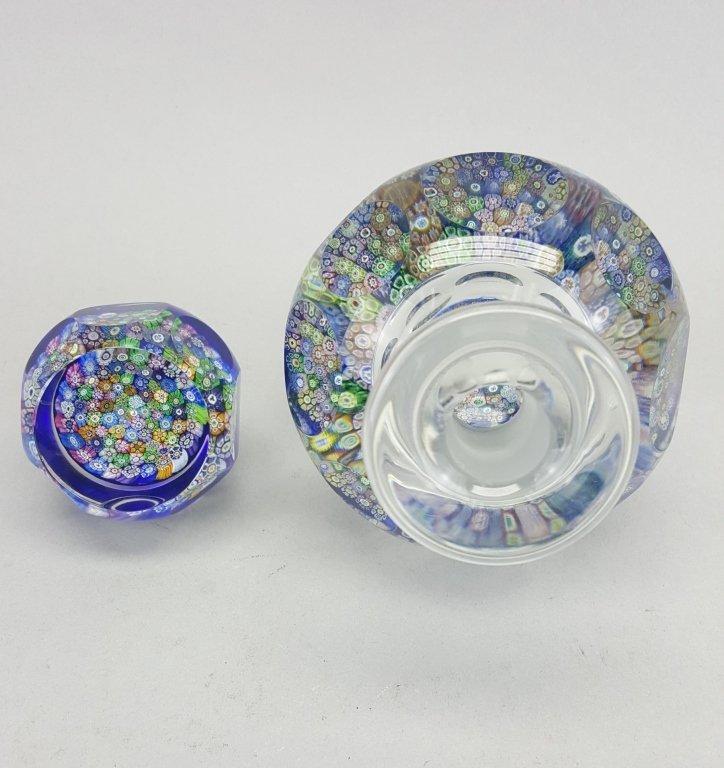 Millefiori Glass Inkwell / Paperweight - 3