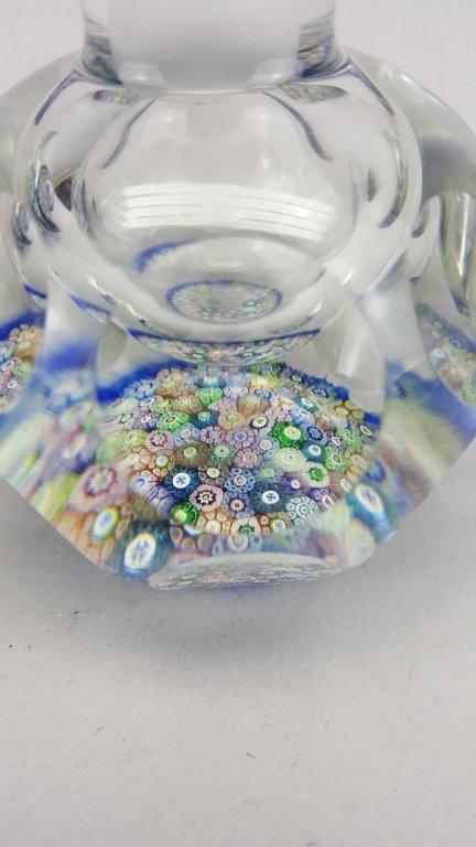 Millefiori Glass Inkwell / Paperweight - 4