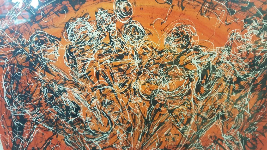Signed Figural Abstract Mixed Media - 6