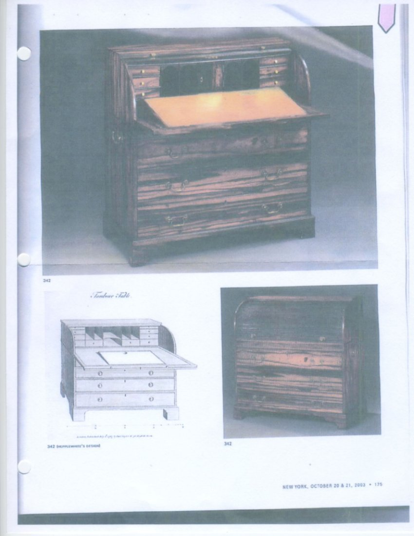 Rare 18/19th C Chinese Export Calamander Desk, Sothebys - 10