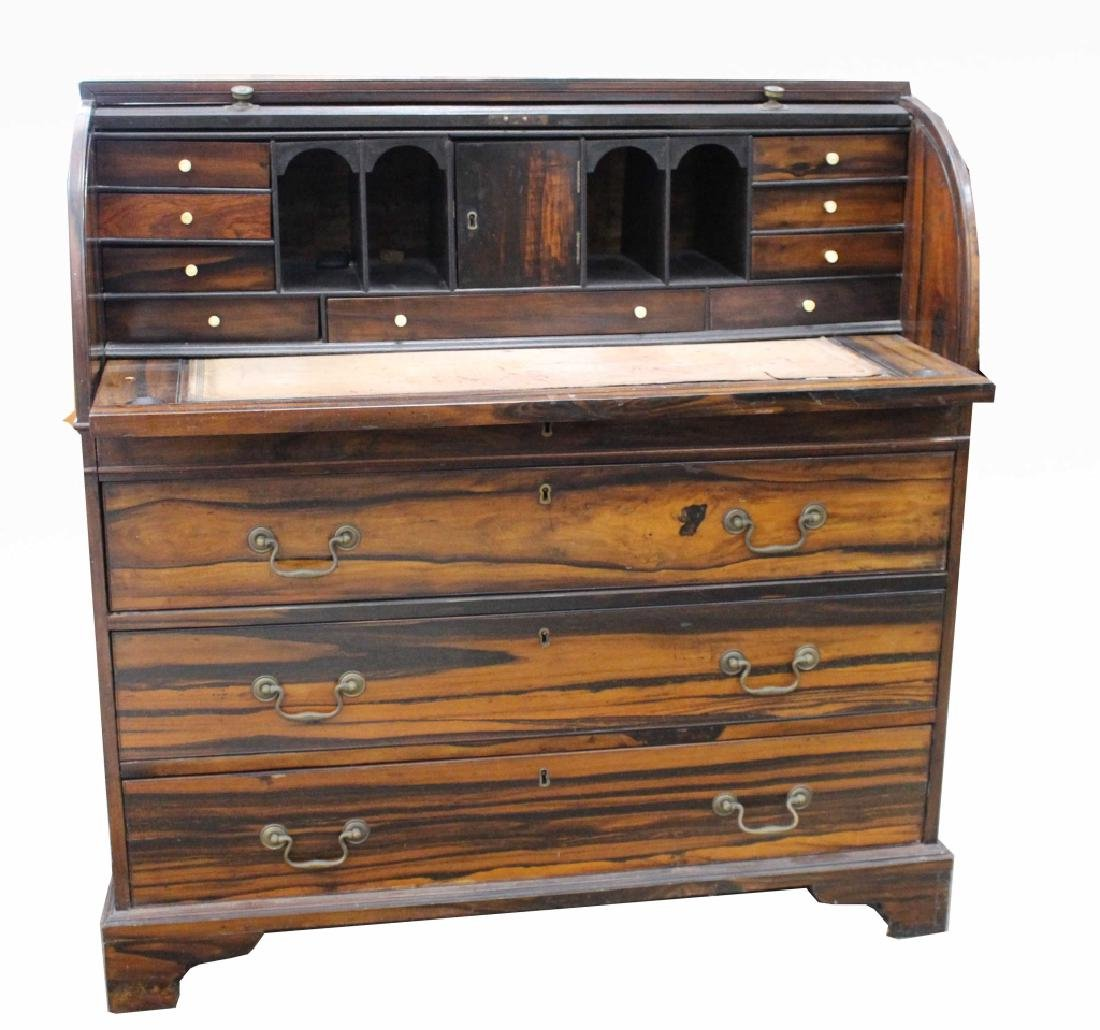 Rare 18/19th C Chinese Export Calamander Desk, Sothebys