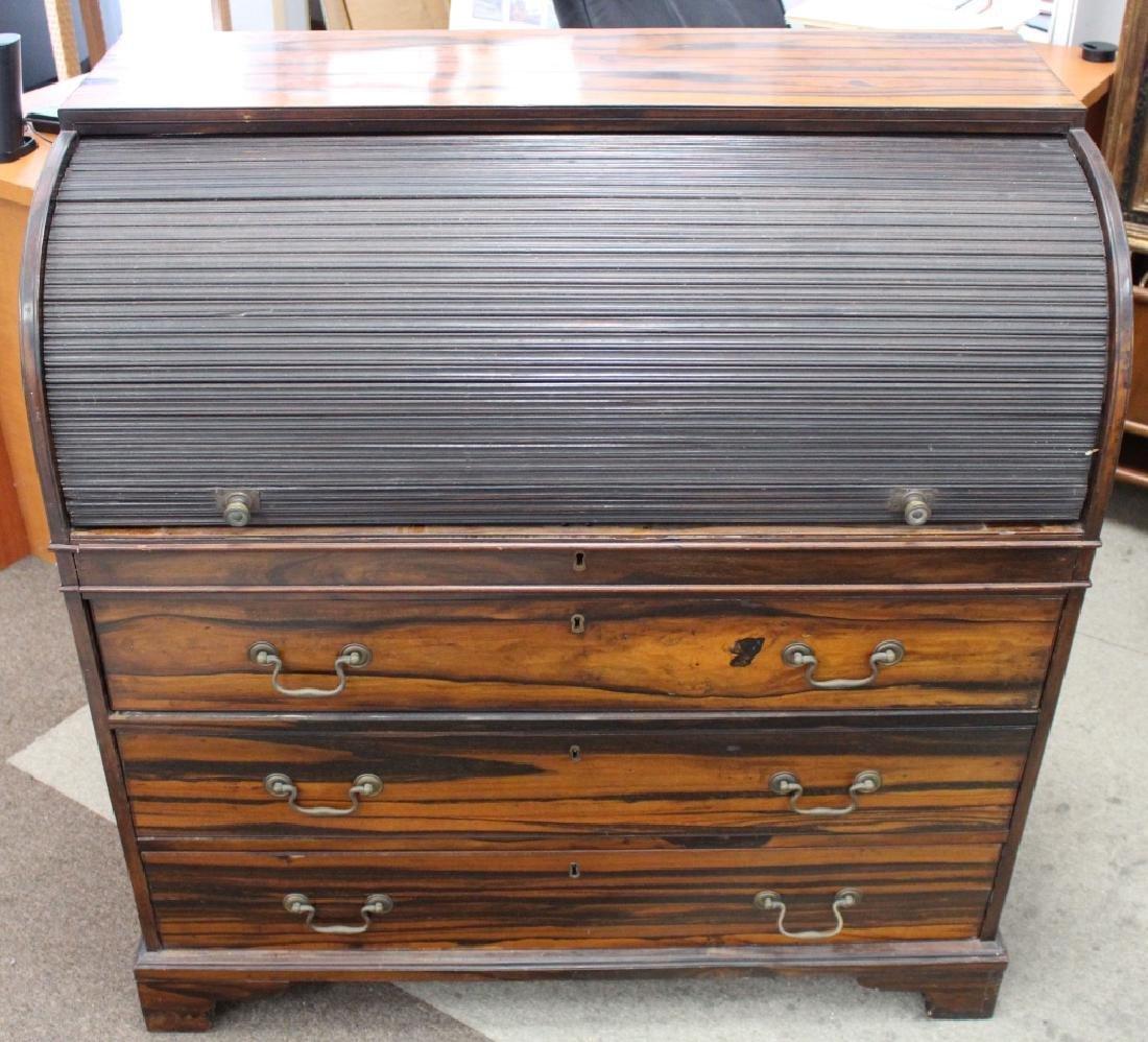 Rare 18/19th C Chinese Export Calamander Desk, Sothebys - 6