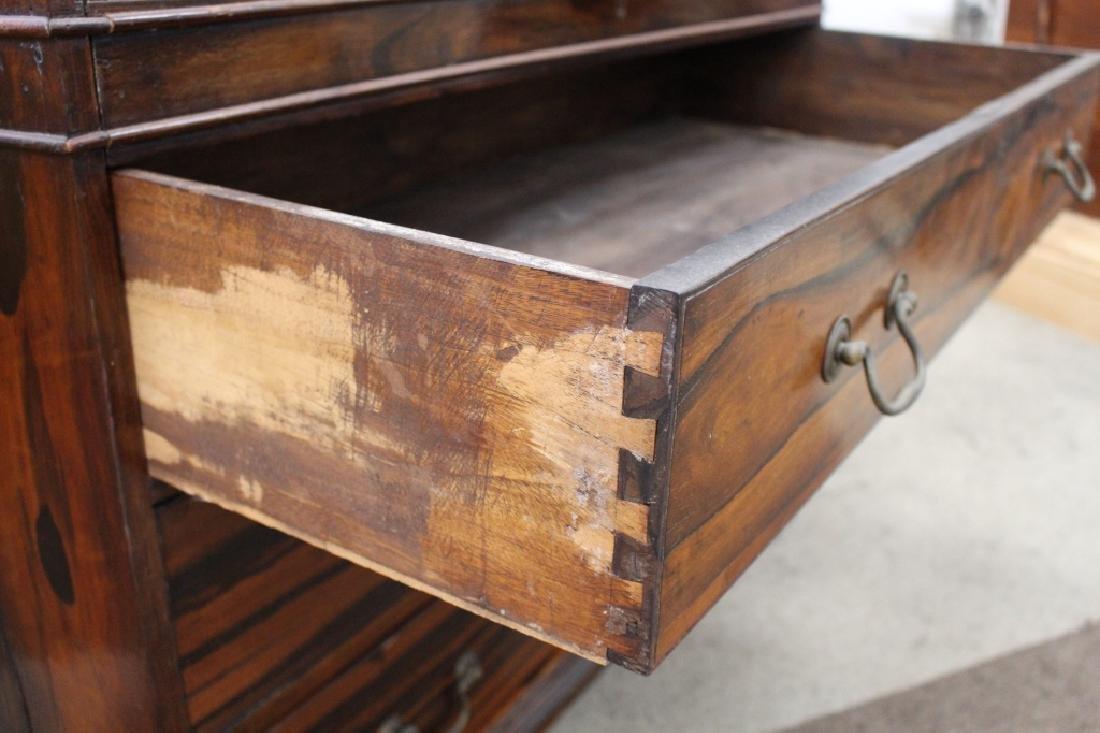 Rare 18/19th C Chinese Export Calamander Desk, Sothebys - 7