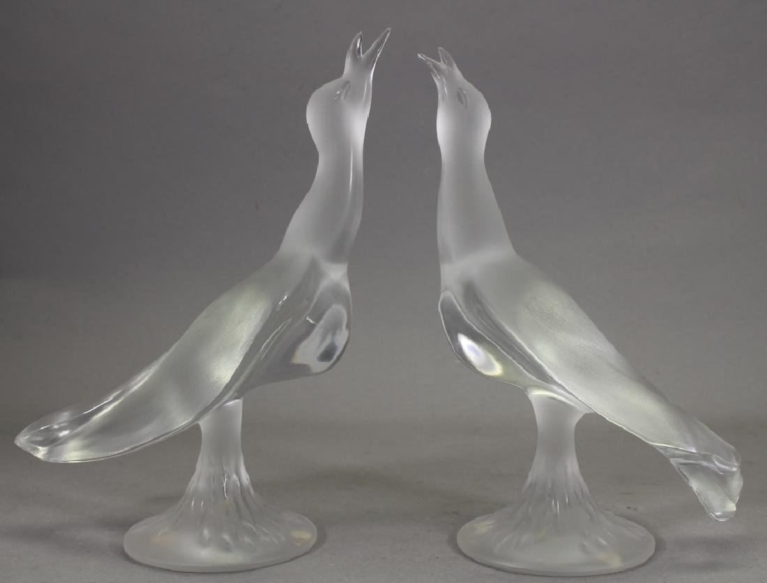 Signed French Lalique Gulls