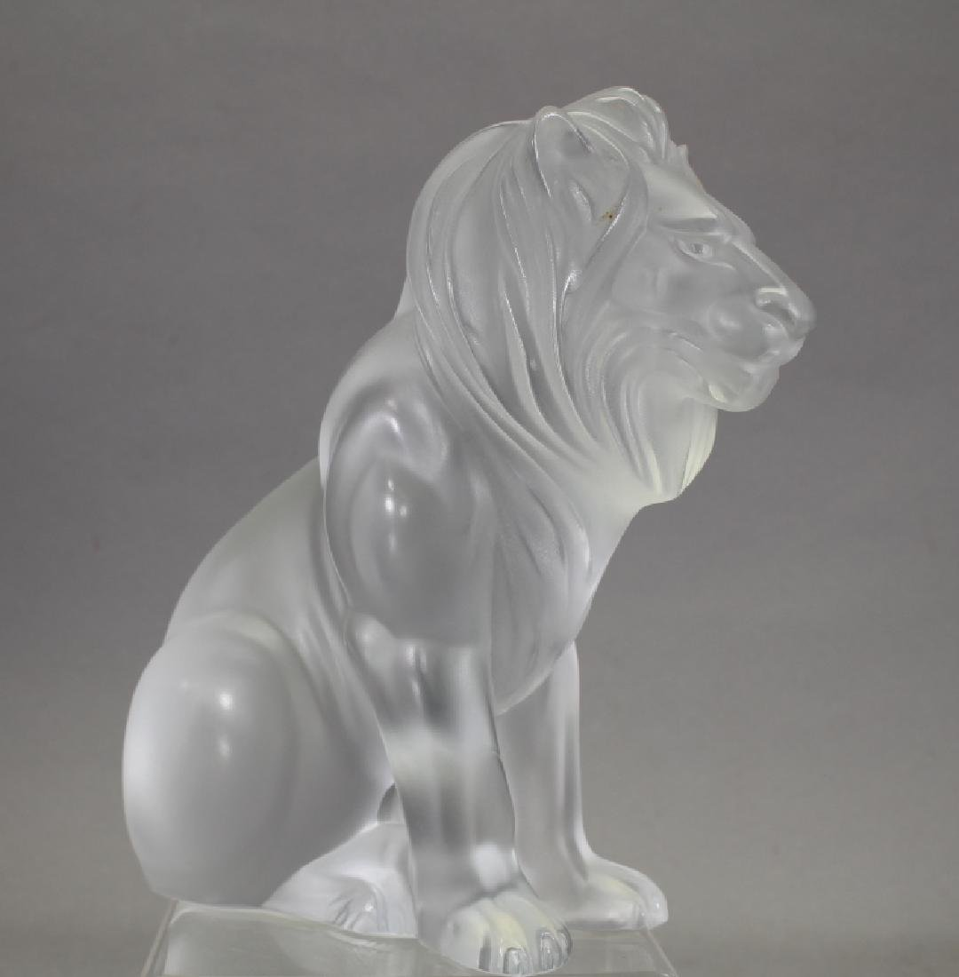 Signed French Lalique Lion
