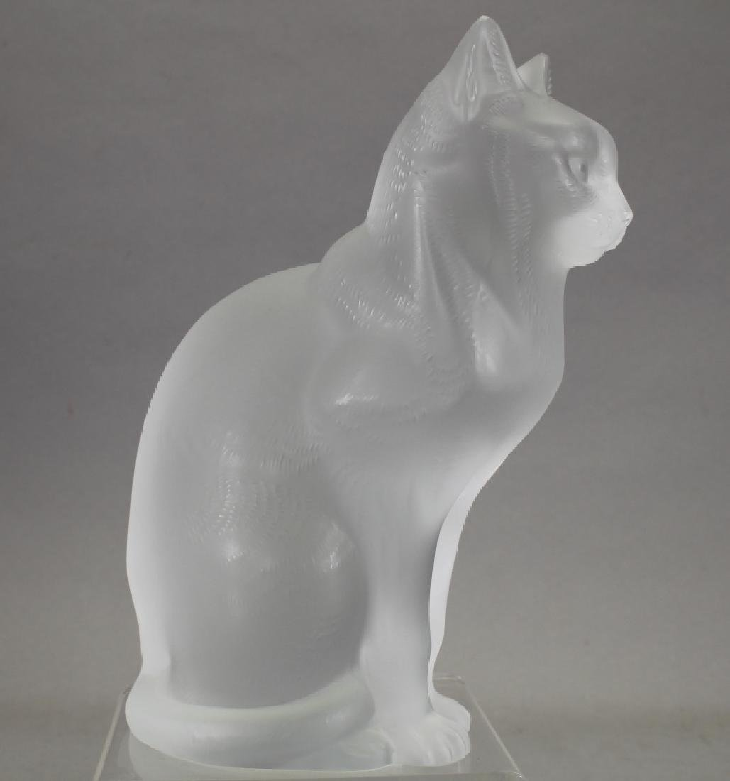 Signed French Lalique Cat