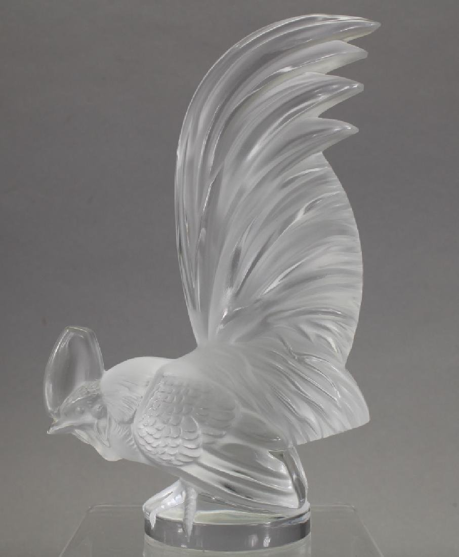 Signed Lalique Rooster